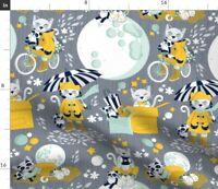 Yellow Cat Kitten Kitty Cats Panda Feline Spoonflower Fabric by the Yard