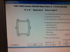 Honda CR450R  Reed Valve Gasket  1981 1982 1983 14132-430-000