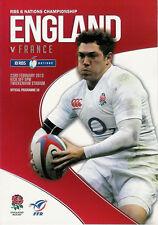 Angleterre v France 23 fév 2013 RUGBY programme à Twickenham