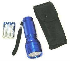 21 LED Flashlight with Pouch and Batteries