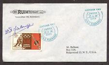 1960 Belgium - Tahoe City souvenir rocket cover