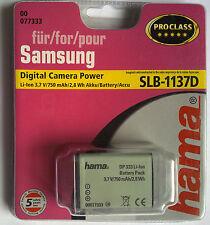 077333 Hama ° per Samsung slb-1137d nv11 Digital Camera Power Proclass