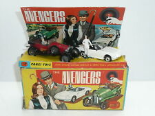 Corgi GS 40 The Avengers Steed's BENTLEY Emma's LOTUS w/figures Boxed *original*