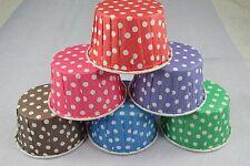 "10 each Red, Blue, Green, Purple, Brown 2"" Cupcake Liner Greaseproof Baking Cup"