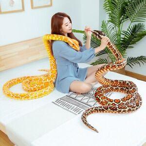 3M Simulation Cobra and Python Snake Plush Toys Animal Stuffed Christmas Gift