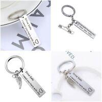 Drive Safe Stainless Steel Keychain Keyring Key Chain Ring Men Family Love Gift