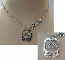Dreaming of the Sea Whale Tail Pendant Necklace Jewelry Handmade NEW Silver