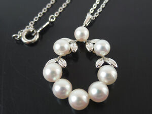 New P329 Japanese Akoya Pearl with 925 silver Cat pendant