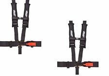 "PRP 5 Point Harness 3"" x 2 Pads Seat Belt PAIR BLACK Polaris RZR XP Turbo 1000"
