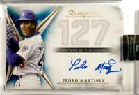 MLB Card 2018 Pedro Martinez TOPPS Luminaries Masters of the Mound Auto Blue 2/5