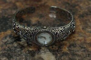 (QC)EON 1962 Swiss Movement Bracelet WATCH Sterling Silver Cuff
