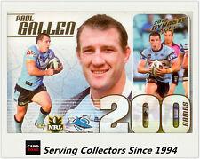 2012 Select NRL Dynasty Triple 200 Game Case Card CC29: Paul Gallen (Sharks)