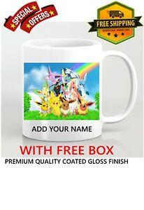 Personalised ANY NAME Pokemon PIKACHU Generations Coffee Mug Ceramic Gift idea