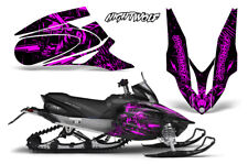 Yamaha APEX XTX Decal Wrap Graphic Kit Sled Snowmobile 2006-2011 NIGHTWOLF PINK