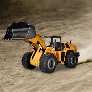 HUINA 583 2.4G 10CH RC Radlader Bagger Engineering Fahrzeug Mit Fernbedienung