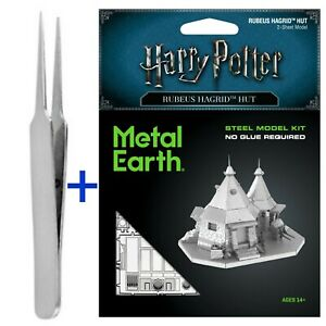 Fascinations Metal Earth Puzzle Hagrid's Hut Harry Potter with a FREE TWEEZER!