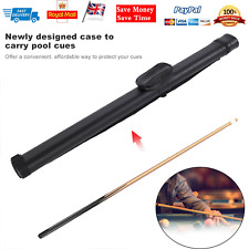 1x2 Hard Pool Cue Billiard Stick Carrying Case Black 80*12*12cm Portable