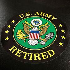 US Army Retired Circle - Sticker