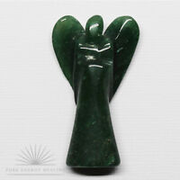 LARGE Hand Carved Green Quartz Crystal Angel  4.5cm 1.8inch High Casa Brazil
