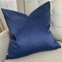 """Modern Cushion Cover 18"""" John Lewis & Partners Cotton Velvet Fabric Navy"""