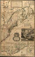 A4 Reimpresión de Británico Colonias Imperio Mapa Norte Eeuu