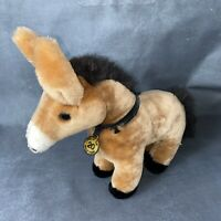 """Vintage Borax One Of The 20 Mule Team Plush Mule 15"""" Caltoy Adv. Collectible HTF"""