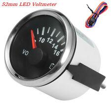1x 52mm LED Backlight Automobile Marine Pointer Volt Meter Gauge Voltmeter 9-32V