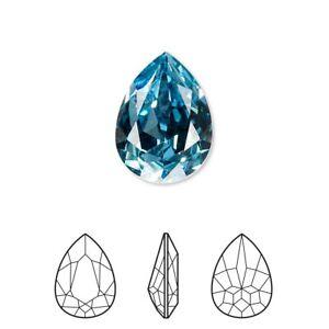 Swarovski crystal rhinestone aquamarine 18x13mm pear (4320) 1 Pc