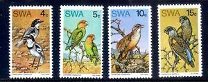 1974 SOUTH WEST AFRICA BIRD SET OF 4 MNH