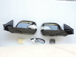 NEW Auto Power Folding Mirrors Led Light w/Switch for HONDA CRV 07 ~11 3th Gen