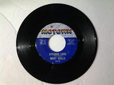 "Mary Wells 45 rpm ""Strange Love"" MOTOWN 1016"