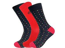3 Pairs of Super Soft Natural Bamboo Socks UK 7-11 EU 40-45 Red Polka
