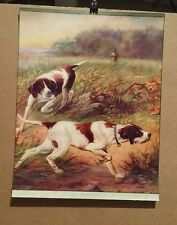 ZULA KENYON. ORIGINAL PRINT-  HUNTING DOGS -GOOD HUNTING -1920s