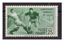 REGNO 1934 - MONDIALI DI CALCIO Cent. 25 NUOVO **