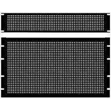Hammond PPFS19003BK2 2U Steel Blank Panel Black - Perforated 483 x 2 x 89