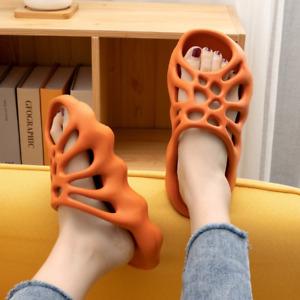 Soft Eva Cut-out Slippers, Men Women Beach Slides, Unisex Fashion Mesh Sandals