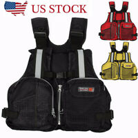 Adult Adjustable Life Jacket Vest Marine Reflective Sailing Kayak Fly
