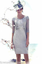 SALE Carla Ruiz 91404 Dress/Coat, 18, Silver Grey/Blue, RRP £550