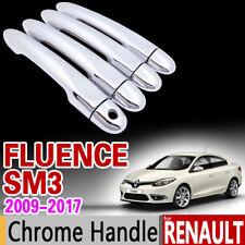 Renault Fluence SM3 2009 - 2017 Chrome Handle Set 2010 2011 2012 2013 2014 2015