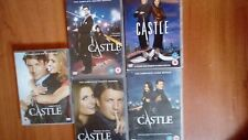 Castle  DVD's series 1-5 . Region 2,  used  great American series.