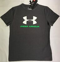 NWT youth Boys' YLG large UNDER ARMOUR t-shirt cotton all season HEATGEAR tee