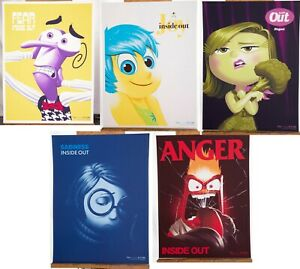 Pixar Inside Out Set 5 Posters Print Mondo Sold Out PCC