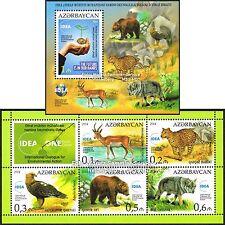 Aserbaidschan Azerbaijan 2014 - IDEA Umweltschutz Tiere, 2 Blocks ** postfrisch