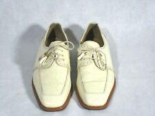 Giorgio Brutini Private Collection Tassle Shoes Men 10.5 M Ivory Leather
