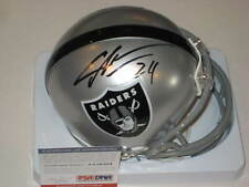 CHARLES WOODSON Signed Oakland RAIDERS Mini-helmet w/ PSA COA