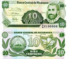 Nicaragua 10 Centavo Banknote World Paper Money Unc Currency Pick p-169 Bill