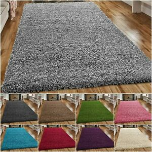 Thick Fluffy Shaggy Large Rugs 120 x 170 Non Slip Living Room Bedroom Carpet Rug