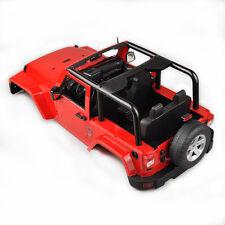 Hard Body Shell Canopy Jeep Wrangler F RC 1/10 SCX10/D90 Rock CRAWLER Truck Red