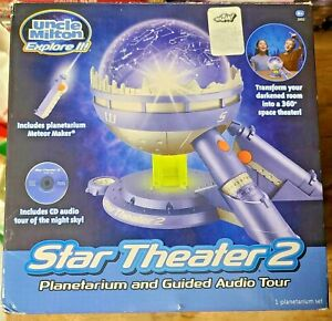Star Theater 2 Uncle Milton Home Planetarium CD with guided audio tour COMPLETE