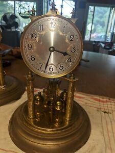 Vintage JahresuhrenFabrik Germany Anniversary Clock For Parts/Repair, with Dome